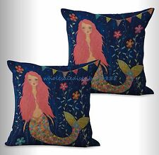 US SELLER- 2pcs car seat cushion covers mermaid cushion cover