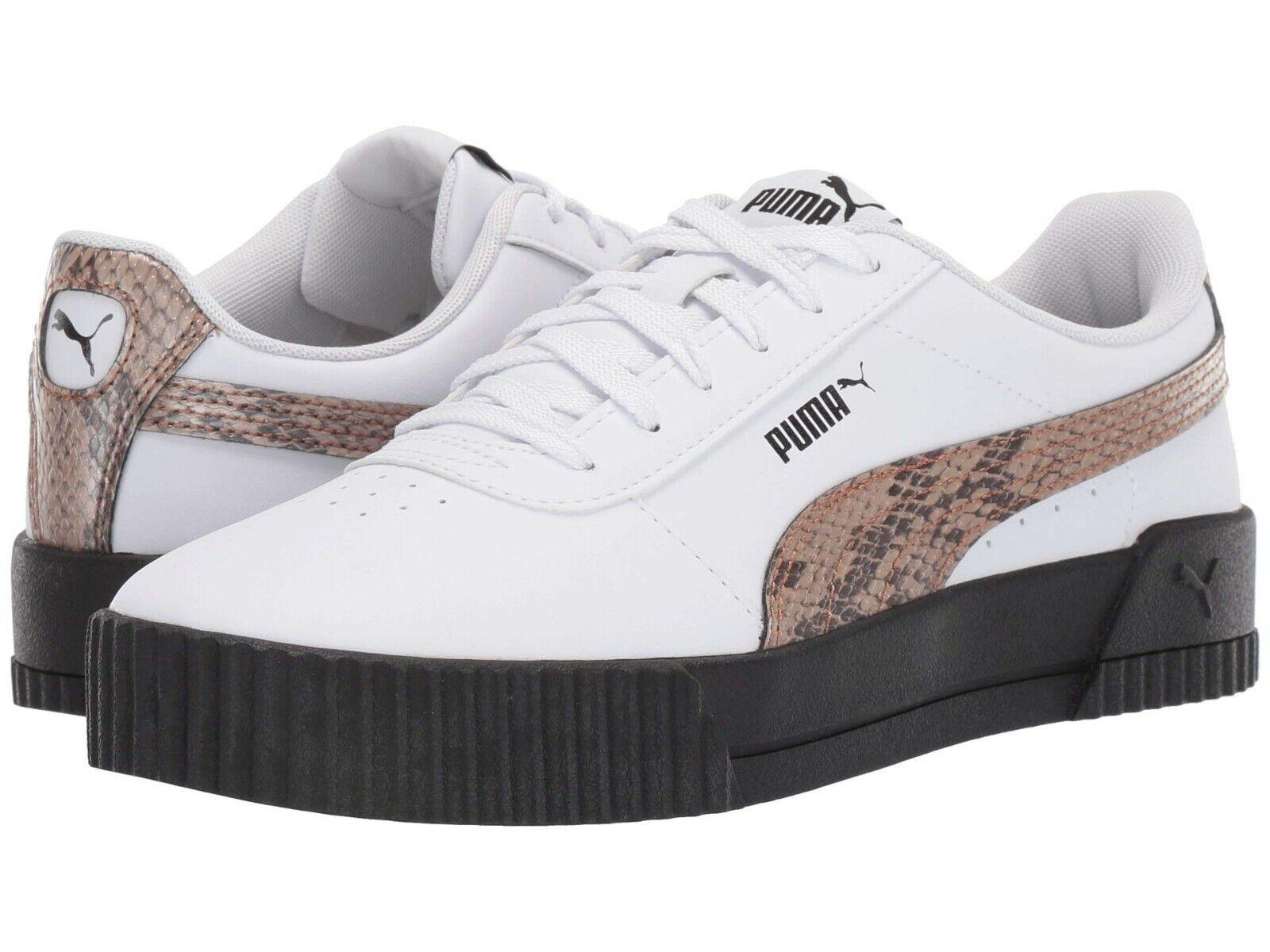 Women's Shoes PUMA CARINA LEO Leather Platform Sneakers 37272201 PUMA WHITE