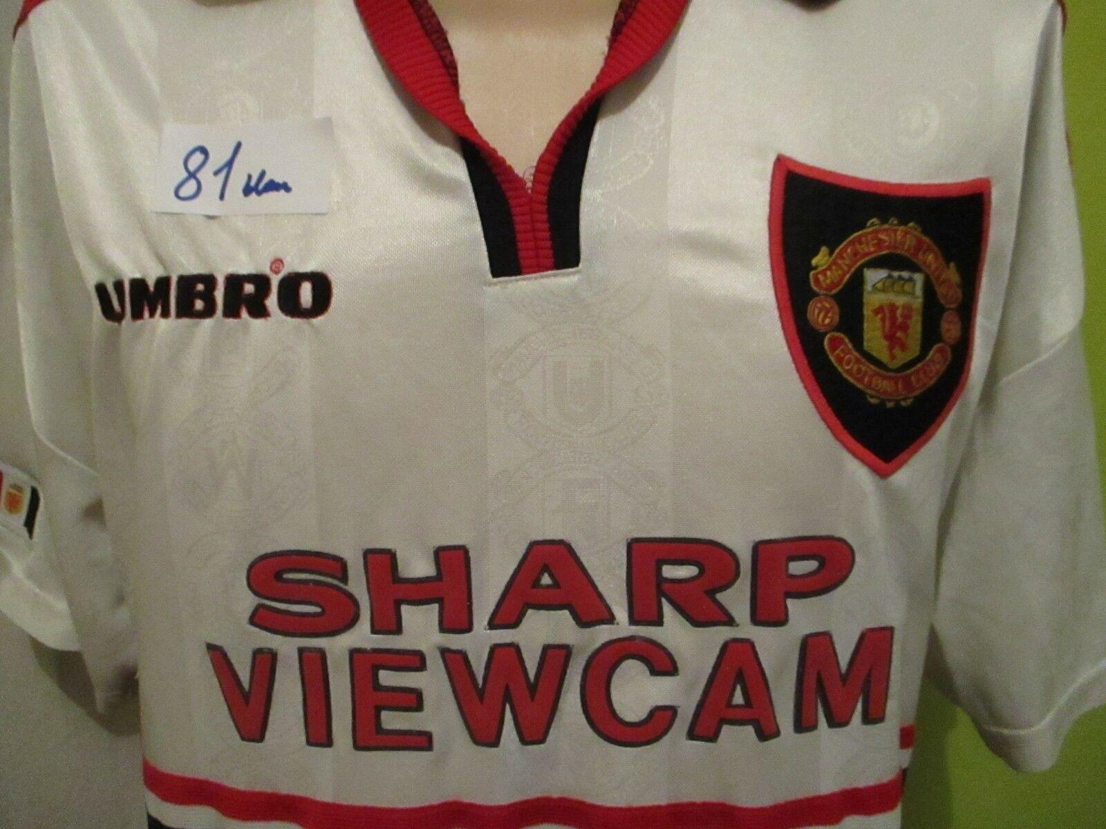 Manchester United Original umbro umbro umbro Auswärts Trikot 1997-1999  SHARP VIEWCAM  Gr.XL  | Beliebte Empfehlung  26dd79