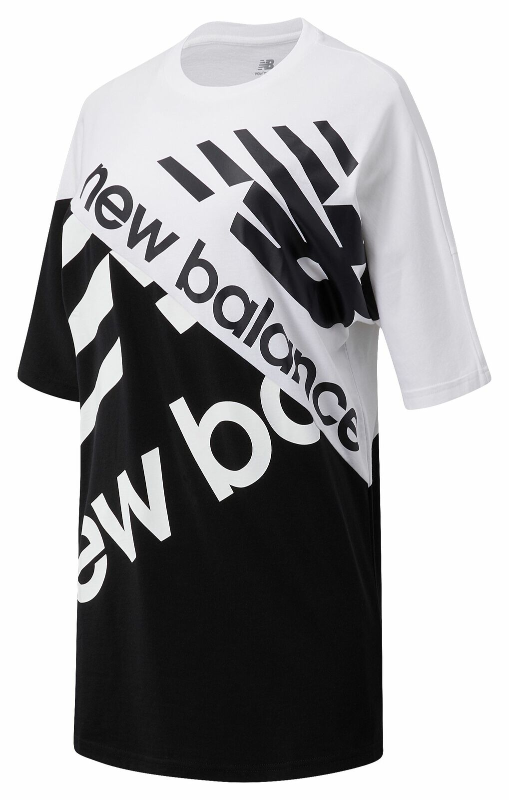 New Balance Women's NB Athletics Splice Tunic Tee Black with Grey