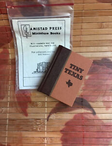 Tiny-Texas-Anne-Dingus-Victoria-Loe-Amistad-Press-HC-Limited-Ed-Miniature-Book