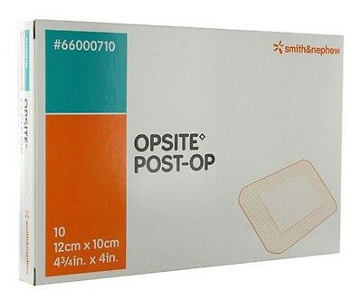 OPSITE Post-Op Dressings 12 cm x 10 cm Reduce Blistering/Infection 1 X piece UK
