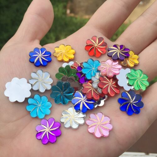 30pcs Sun Flower Design Acrylic Art For Clothing Jewelry Decoration DIY 15mm