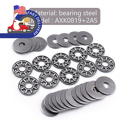 Part 8x19x 2mm in US 10pcs Thrust Roller Needle Bearings plus ultra thin 3