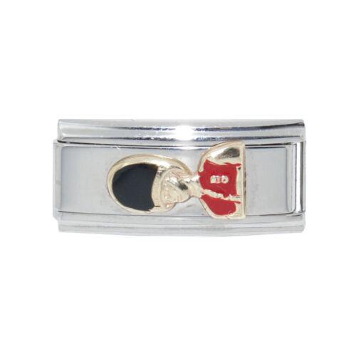 fits 9mm classic Charm bracelets Buckingham Palace guard London Italian charm
