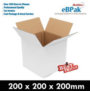 50x Mailing Box 200 x 200 x200mm Regular Slotted Shipping Carton Cube Square