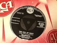 BELAFONTE - I HEARD THE BELLS ON CHRISTMAS DAY / THE SON OF MARY . 1958 . MINT