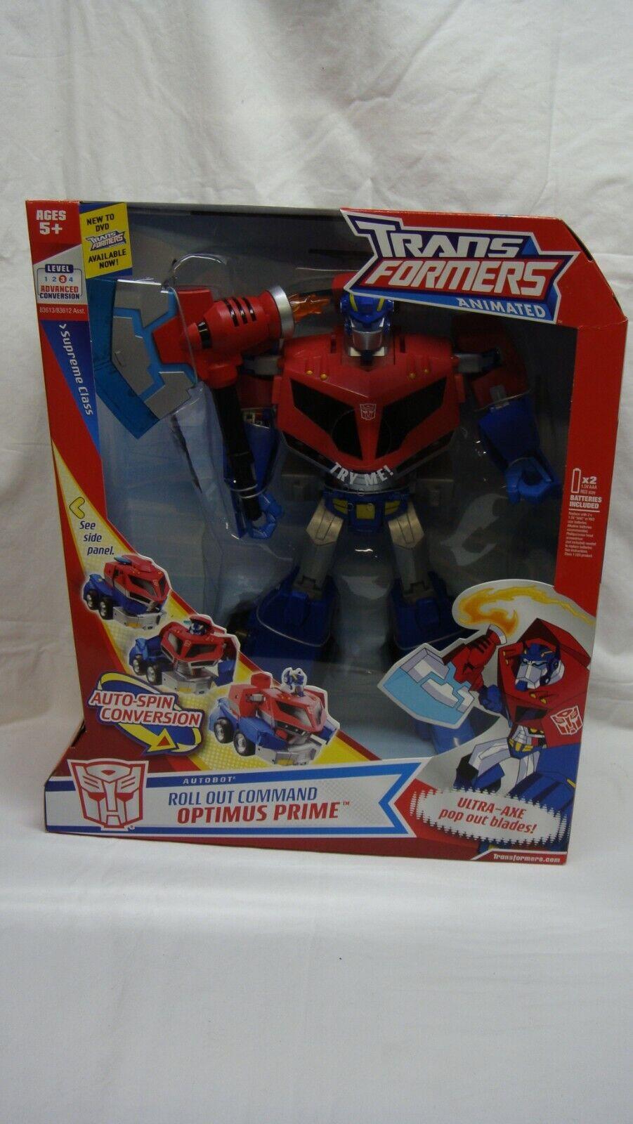 Transformers Animated desplegar comando Optimus Prime Luces habla  Supremo  nuevo