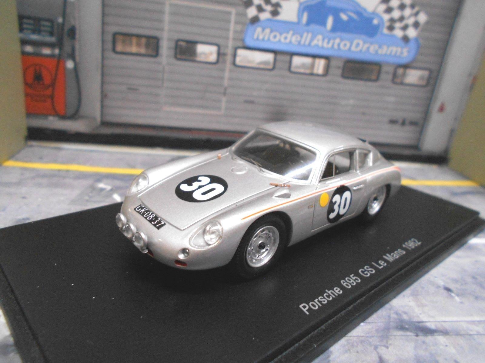 PORSCHE 695 Gs abarth coupé Le Mans 1962  30 Pon Godin Beaufort Spark 1 43