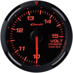 52mm Red DF07005 10 to 15V Defi Racer Gauge Voltage Meter
