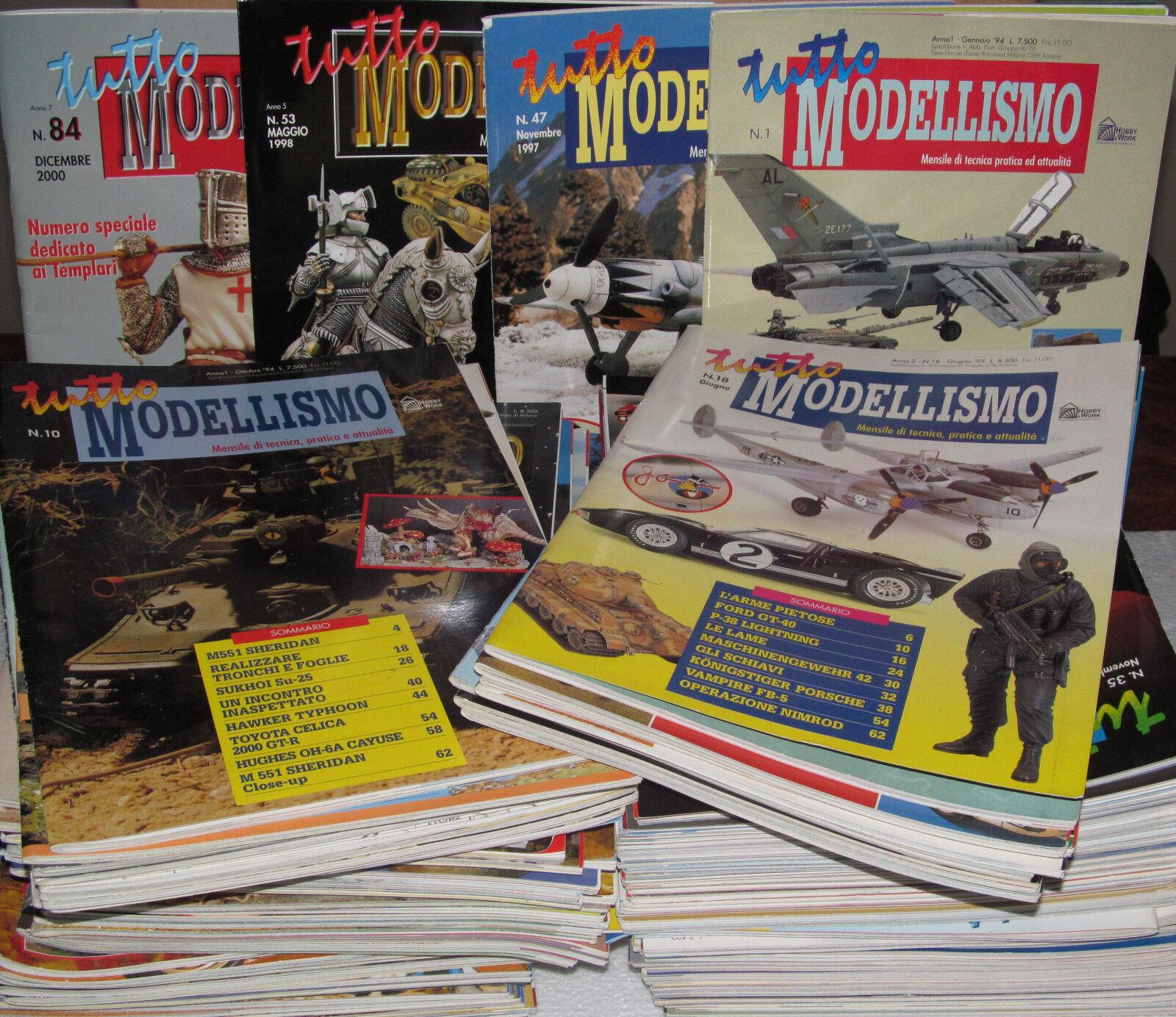omaggi allo stadio Rivista mensile TUTTO modelloLISMO - collezione completa  - - - ed. Hobby & lavoro  grande vendita