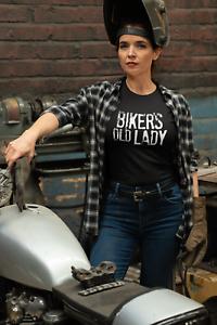 Motorcyclist Wife T-Shirt Biker's Old Lady, Women Ladies Sons Anarchy Motorbike