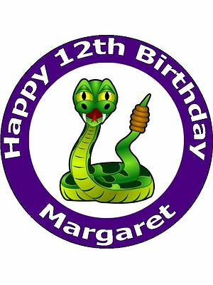Magnificent 7 5 Cartoon Snake Birthday Cake Toppers Decorations Personalised Funny Birthday Cards Online Aboleapandamsfinfo