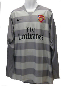 new style 8d452 58c8a Details about NEW Nike ARSENAL Football 2007-2008 Player Issue Goalkeeper  GK Shirt Grey XL