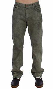 Nuevo-Exte-Jeans-Verde-Algodon-Ordinario-Fit-Hombre-Pantalones-S-W34-It48