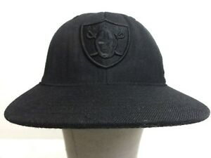 6d350f20b9f Reebok NFL Team Apparel Oakland Raiders Cap Black Fitted Size 7 1 4 ...