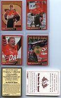 2001 Licensed Dale Earnhardt, Jr. 4-card Set W/24k Gold State Quarter Card