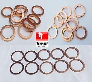Copper-Sealing-Washer-Metric-Size-Sump-Plug-Fuel-Banjo-Fuel-Diesel-Petrol