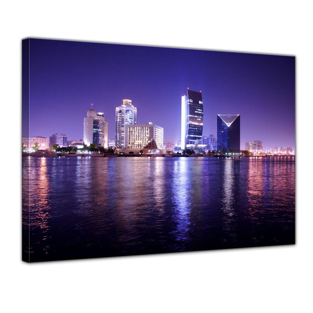 Leinwandbild - Dubai - - - Nachtaufnahme, Vereinigte Arabische Emirate 734f32