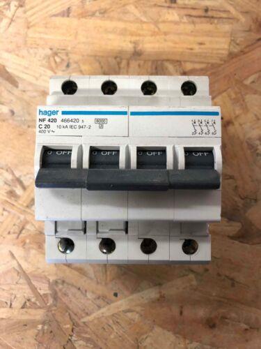 Disjoncteur HAGER 4P 20A courbeC