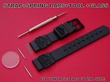 PLASTIC RUBBER STRAPS BAND+TOOL+GLASS  FIT TAG HEUER VINTAGE F1 FORMULA ONE