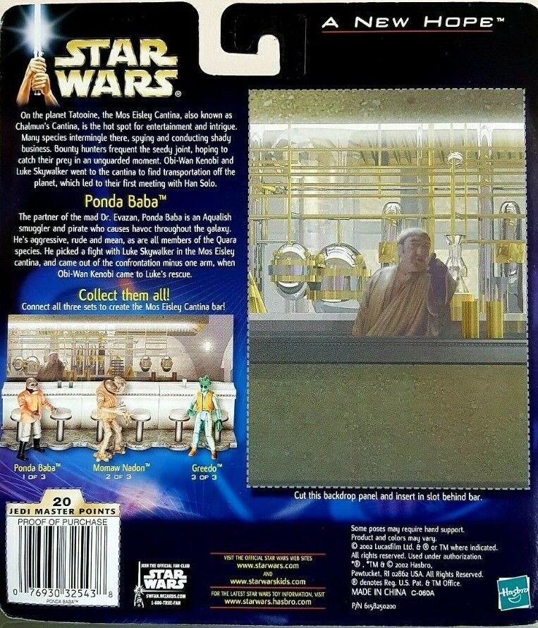 Star Star Star Wars Ponda Baba Figure Damaged Arm & Cantina Bar Section NEW - RARE 65bbd7