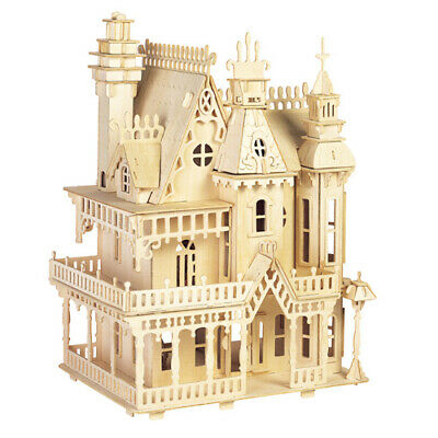 Fantasia Villa 3d Holzbausatz Puppenhaus Holz Steckpuzzle Holzpuzzle Kinder Bau