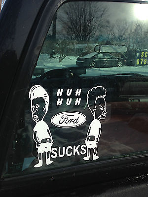 Beavis and Butthead Ford Sucks  Funny Jdm Sticker Chevy window car truck decal