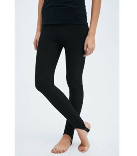 M NEW NWT Urban Outfitters BLACK Ribbed Stirrup Tight Dance Tights S