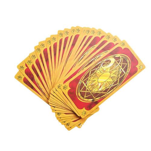 2pcs cardcaptor card captor sakura clow cards tarot cards books cosplay