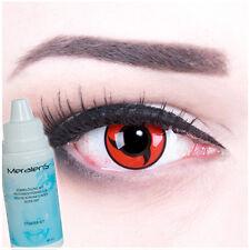 Farbige Fun Crazy Kontaktlinsen rot schwarz Itachi Mangekyou Sharingan Halloween