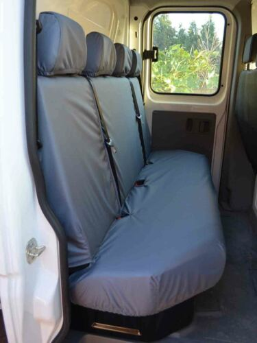 Tipper Grey Rear 4 Seater Bench Seat Covers Set for Mercedes Sprinter 06-13
