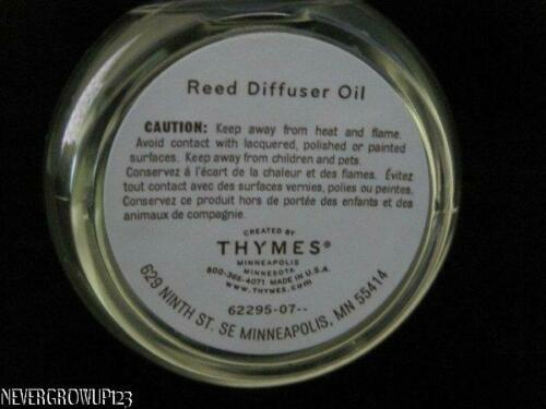 THYMES INDIGENOUS~ROOM FRAGRANCE~BLUE LOTUS REED DIFFUSER OIL REFILL~NO BOX