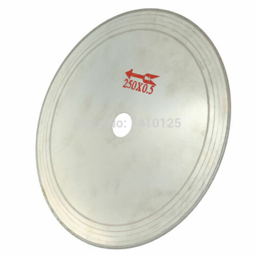 "10""inch SuperThin Rim 0.65 mm Diamond Saw Blade Cutting Disc Lapidary Tools"