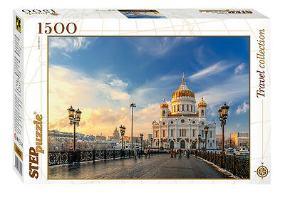 RUSSIA: The Cathedral of Christ the Saviour (MOSCOW). Jigsaw puzzle 1500 NEW
