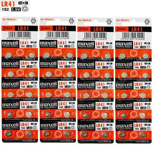40-x-Maxell-LR41-Alkaline-batteries-1-5V-192-AG3-392-192A-L736-SR41-Pack-of-2