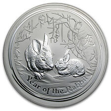 2011 1 Kilo Silver Australian Lunar Year of the Rabbit Coin - SKU #59010