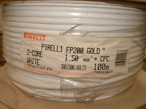 Pirelli FP200 Gold Cable 2 core 1.5mm + cpc. 100 Metre Drum.*OLD ...