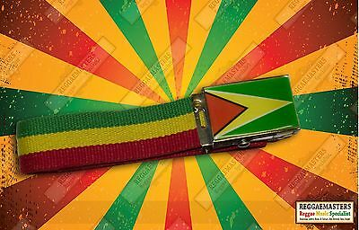 Ehrlich Guyana Flag Colours Red Gold And Green Belt Caribbean Pride Roots & Culture
