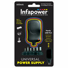 P001 Infapower 600ma Universal Multi-voltage Power Supply With USB Port and Six