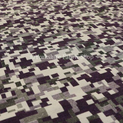 MODERN PATTERN geometrico viola bianco leggero tappezzeria tessuti per arredamento