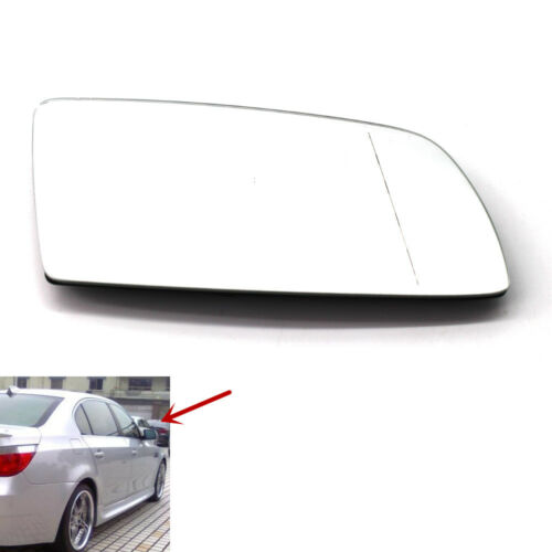 Right Driver Side Rearview Mirror Glass Heated 6 AC for BMW E60 E63 E64 Clear
