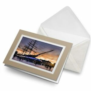 Greetings-Card-Biege-Cutty-Sark-Sailing-Boat-Ship-3222
