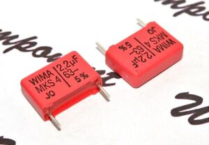 10pcs-WIMA-MKS4-2-2uF-2-2-F-63V-5-pitch-15mm-Polyester-Capacitor