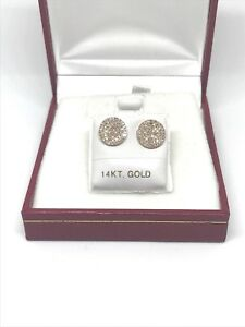 0-45-Ct-Pave-Diamond-14K-rose-gold-disc-Earrings