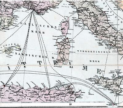Diszipliniert Napoli Spezia Ancona 1916 Orig. Teil-kriegskarte/ln. Caprera Malta Toulon Algier