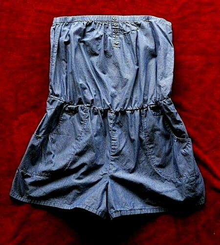 Womens XL Mossimo 100% Cotton Dark Blue Strapless