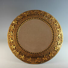 Antique Wood and Gesso Mirrored Plateau or Mirror
