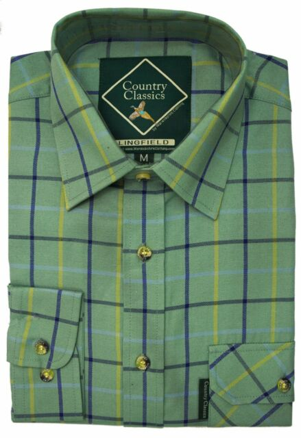 Country Classics Mens Long Sleeve Country Check Shirt - Heavy Weight  Easy Care
