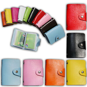 Unisex-Leather-Pocket-24Card-ID-Credit-Card-Holder-Case-Purse-Business-Wallet